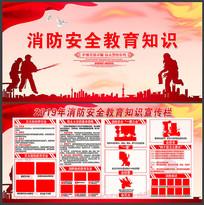 2019年简约消防教育知识宣传展板