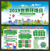 2019世界环境日展板设计