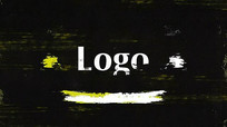 PR模板涂抹笔刷LOGO片头模板