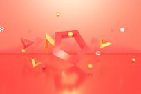 电商立体几何漂浮元素