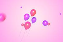 电商淘宝首页海报装饰节日气球