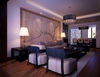 典雅家装客厅3D模型