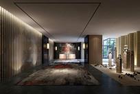 复古室内玄关3D模型