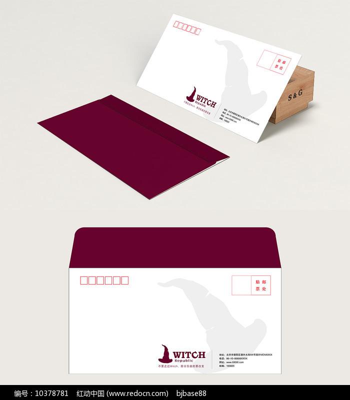 高档5号信封模版设计矢量模板图片