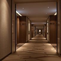 古典地毯过道3D模型