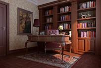 古典家装书房3D模型