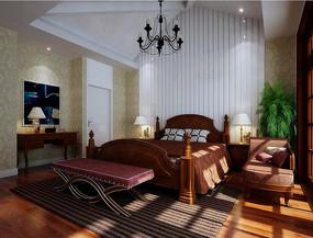 古典家装卧室3D模型