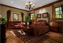 古典欧式家装卧室3D模型