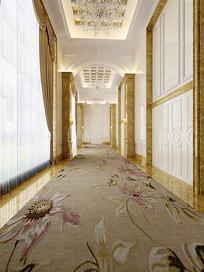 花元素地毯过道3D