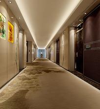 酒店古典过道3D模型