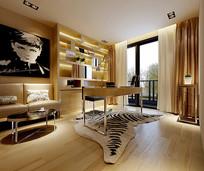 现代简约家装书房3D模型