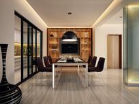 现代简约室内餐厅厨房3D模型