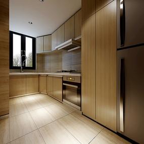 现代简约室内厨房3D模型