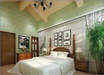 小清新室内卧室3D模型
