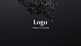 PR黑色LOGO片头模板
