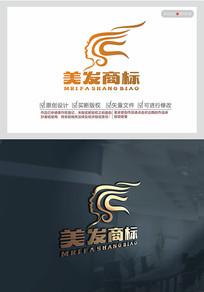 创意美发logo设计
