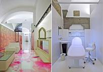 粉色花元素皮肤管理店
