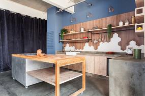 企业木质厨房设计 JPG