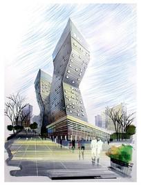 现代折线建筑