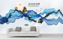 写意水墨山水新中式装饰画