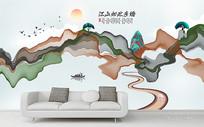 新中式水墨意境山水装饰画