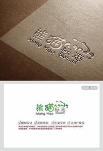 熊猫创意logo设计