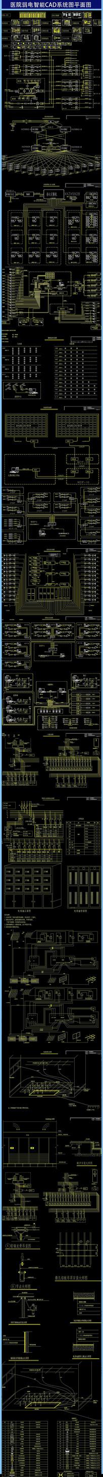医院弱电智能CAD系统图平面图