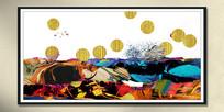 油彩新中式组合画