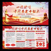 中国工会十七大展板