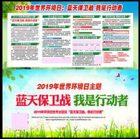 2019年世界环境日展板