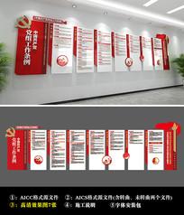中国共产党党组工作条例文化墙