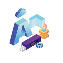 2.5D科技AI人工智能元素