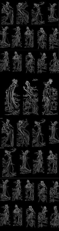 古代CAD仕女图