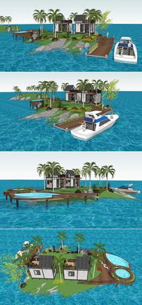 海上小岛度假别墅