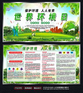 简约世界环境日宣传展板