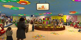 乐园儿童乐园室内场景模型