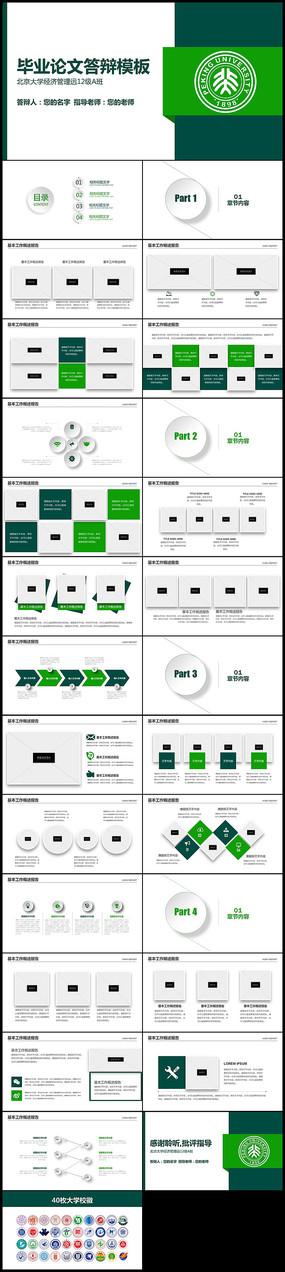 绿色微立体开题报告毕业论文答辩PPT模板