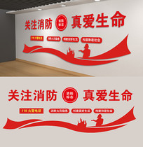 社区消防口号文化墙