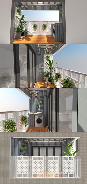 现代休闲阳台