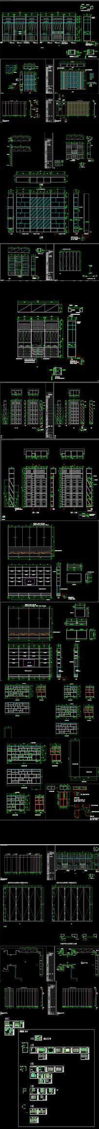 新轻奢展厅CAD施工图