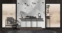 新中式端景台 玄关柜 餐边柜 装饰柜 中式摆件