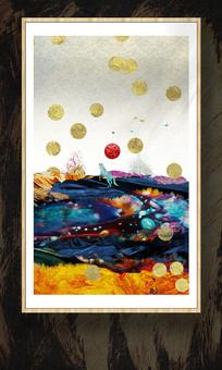玄关风景画水晶画