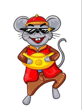 原创元素男版新年鼠