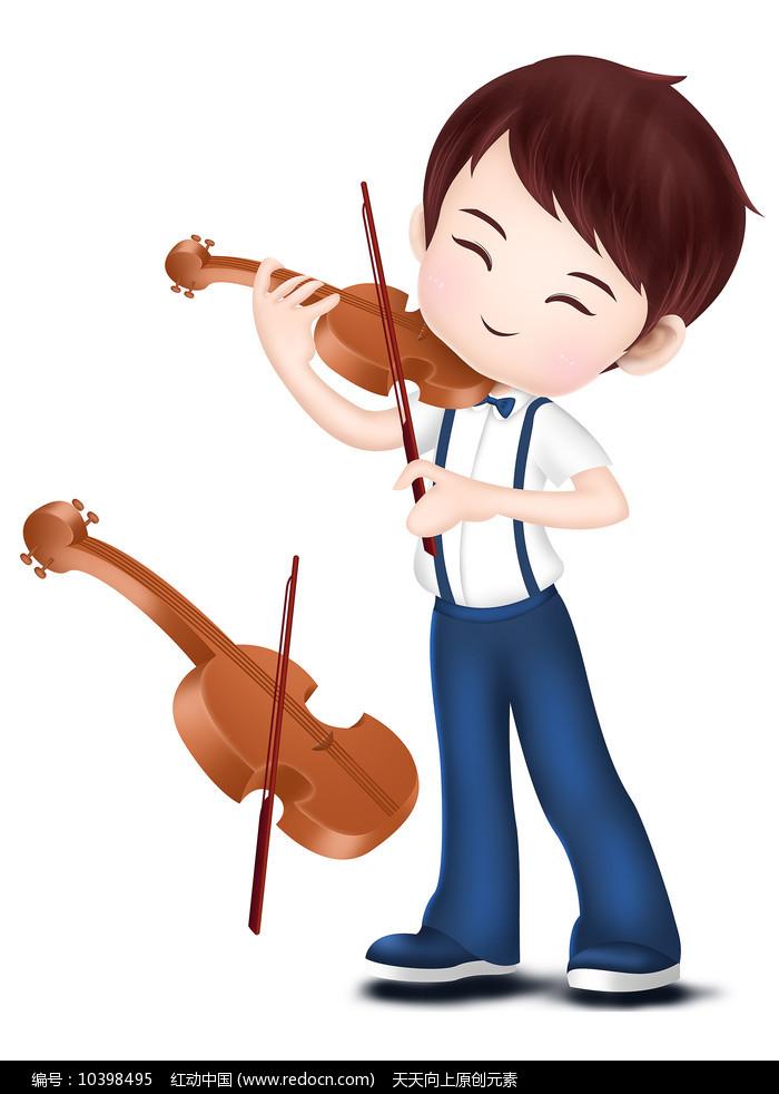 原创元素男孩拉小提琴培训班音乐素材图片