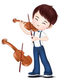 原创元素男孩拉小提琴培训班音乐素材