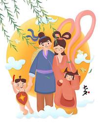 原創元素七夕 卡通