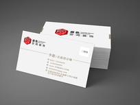 白色装饰公司二维码名片