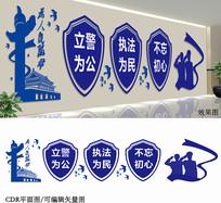 公安宣传文化墙