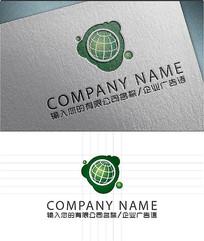 绿色地球LOGO标志设计