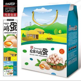 清新的农家土鸡蛋包装设计